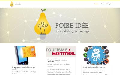 Nous lançons notre blogue : Poire idée !