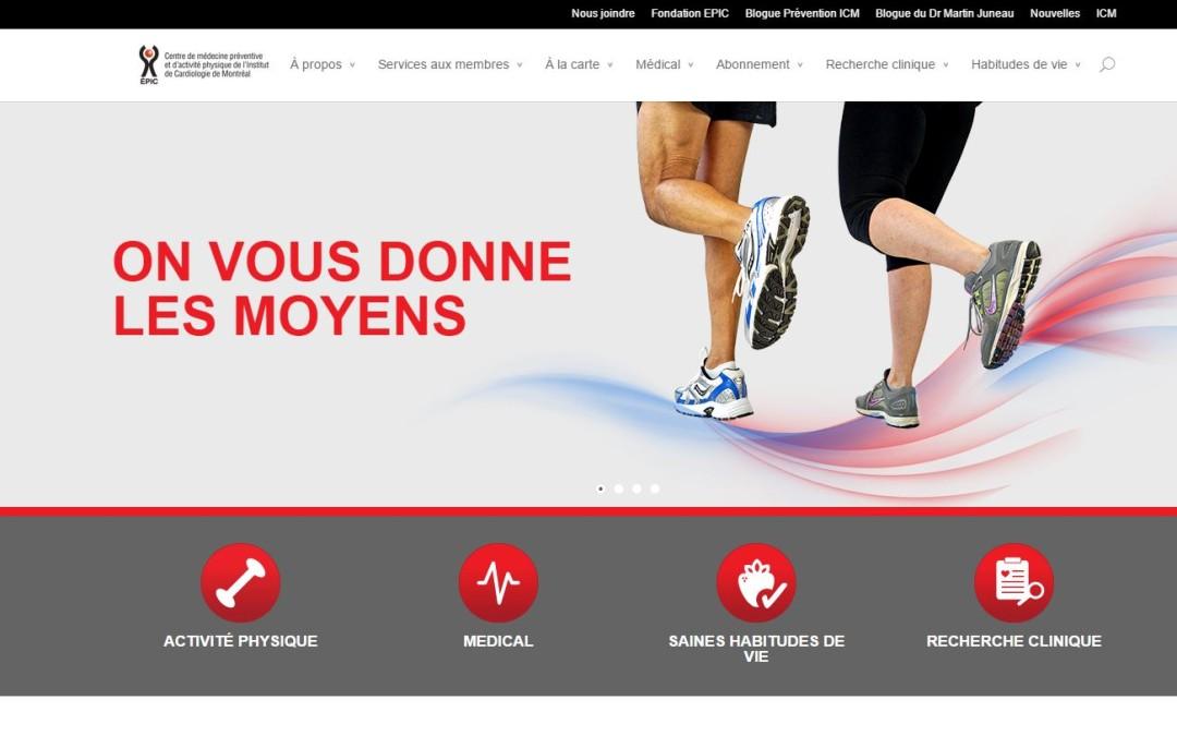 Un nouveau site Web pour le Centre Épic de l'ICM : la prévention ouverte à tous.