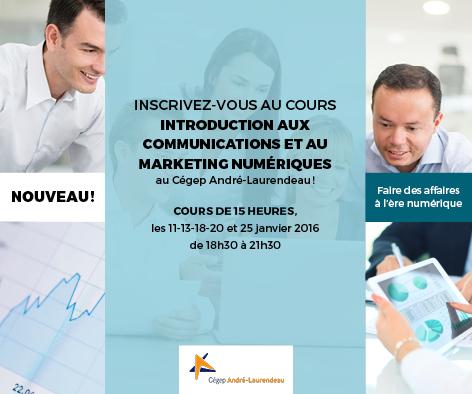 Cours Introduction aux communications et au marketing numériques