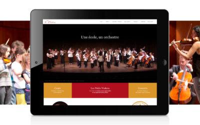 Les Petits Violons lance son nouveau site web
