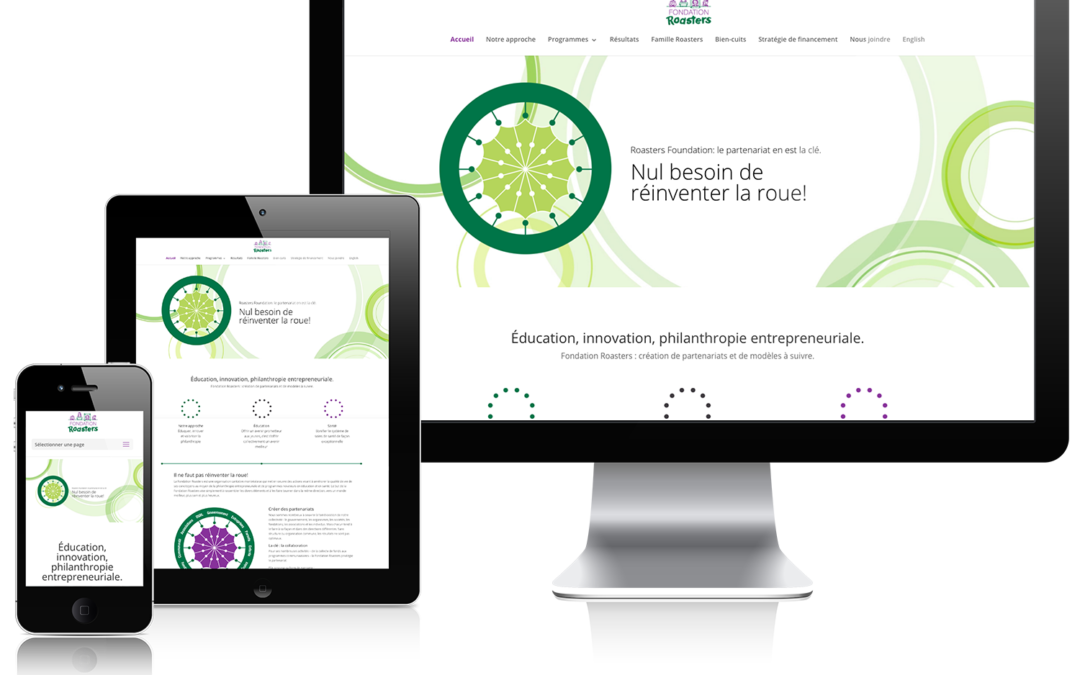 Fondation Roasters – Nouveau site Web