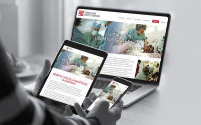 Nouveau site Web pour une fondation internationale