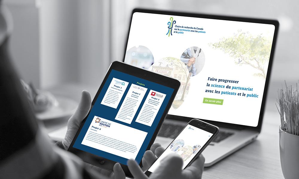 La Chaire de recherche du Canada sur le partenariat avec les patients et le public fait confiance à MixoWeb