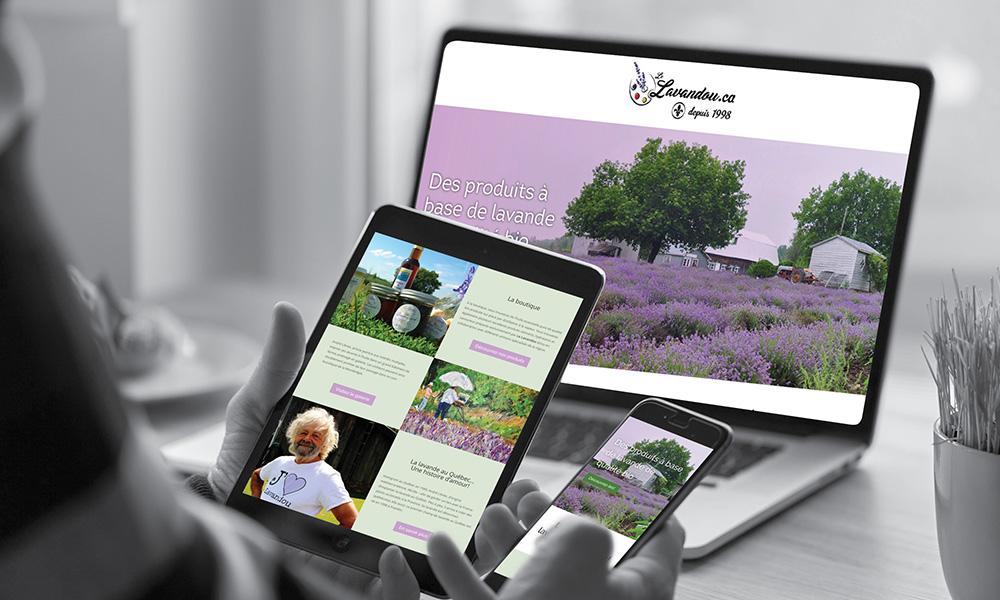 Nouveau site Web pour Le lavandou