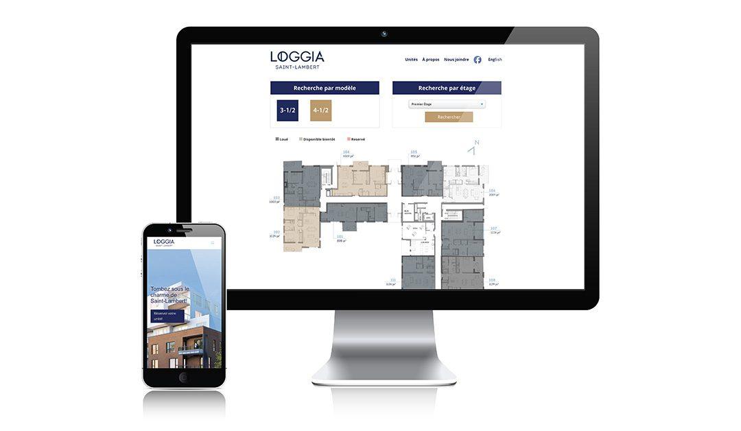 Nouveau site Web pour Loggia Saint-Lambert
