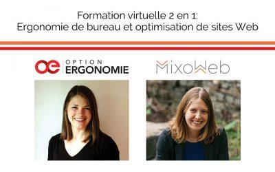 Formation 2 en 1: ergonomie de bureau et optimisation de sites Web